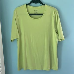 Chico's Ultimate Tee. Lime. Sz 3 (XL)